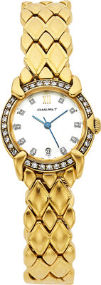 Chaumet Lady's Diamond, Gold Wristwatch