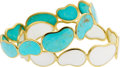 Estate Jewelry:Bracelets, Ippolita Turquoise, Mother-of-Pearl, Gold Bracelets. ... (Total: 2Items)
