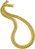 Estate Jewelry:Necklaces, 18k Gold Necklace. ...