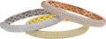 Estate Jewelry:Bracelets, Diamond, Gold Bracelets. ... (Total: 3 Items)