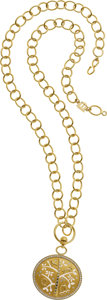 Estate Jewelry:Necklaces, Temple St. Clair Diamond, Gold Necklace. ...