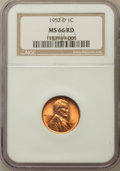 Lincoln Cents: , 1952-D 1C MS66 Red NGC. NGC Census: (1121/174). PCGS Population(1231/52). Mintage: 46,130,000. Numismedia Wsl. Price for p...