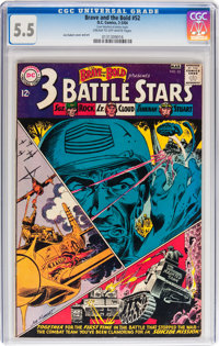 The Brave and the Bold #52 Three Battle Stars (DC, 1964) CGC FN- 5.5 Cream to off-white pages