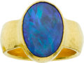Estate Jewelry:Rings, Gurhan Opal, Gold Ring. ...