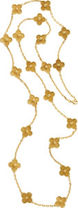 Estate Jewelry:Necklaces, Van Cleef & Arpels Gold Necklace. ...
