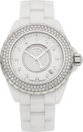 Estate Jewelry:Watches, Chanel Lady's Diamond Ceramic, Stainless Steel J12 Wristwatch. ...