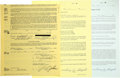 Autographs:Others, 1986 Gary Sheffield Signed Player's Contract. What we offer here isa group of signed documents that are perhaps the first ...
