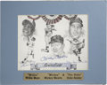Autographs:Letters, Mickey Mantle/Willie Mays/ Duke Snider Autographed Picture. A truly unique pencil drawing of the three greatest center fiel...