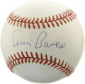 Autographs:Baseballs, Ernie Banks Single Signed Baseball. The beloved Cubs Hall of Famerapplies a top-notch signature to the official orb we see...