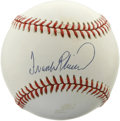 Autographs:Baseballs, Frank Robinson Single Signed Baseball. The Gold Glove outfielderFrank Robinson has placed a near-perfect sweet spot signat...