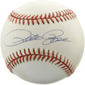 Autographs:Baseballs, Pete Rose Single Signed Baseball. ONL (White) baseball with aslight, but uniform tint of cream wears an apparently unflawe...