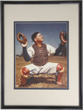 Autographs:Photos, Roy Campanella Signed Photograph. High-quality post accidentexample of the tragic catcher's desirable autograph. Beautifu...
