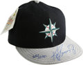 Autographs:Others, Ken Griffey, Jr. Signed UDA Baseball Cap. Unique cap from the Diamond Collection features the Seattle Mariners alternate lo...