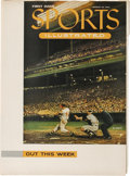 """Baseball Collectibles:Others, 1954 Advertisement Announcing the First Issue of """"SportsIllustrated"""". Classic 1954 advertisement announces the coming oft..."""