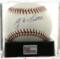 Autographs:Baseballs, Y. A. Tittle Single Signed Baseball, PSA Mint+ 9.5. Here we presentthe unique opportunity to get a strong single signed bas...