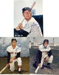 Autographs:Photos, Baseball Hall of Famers Signed Photographs Lot of 3. Each of the Hall of Fame trio that we see here has applied a perfect s...