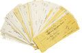 Autographs:Checks, Massive Collection of Joe Sewell Signed Checks Lot of Over 90.Excellent dealer lot places this huge group of 95 personal c...