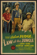 "Movie Posters:Adventure, Law of the Jungle (Monogram, 1942). One Sheet (27"" X 41"").Adventure. ..."