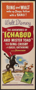 "Movie Posters:Animated, The Adventures of Ichabod and Mr. Toad (RKO, 1949). Insert (14"" X36""). Animated. ..."