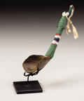American Indian Art:Beadwork, A SIOUX BEADED BUFFALO HORN SPOON. . c. 1890. ...