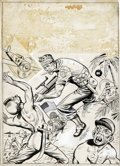Original Comic Art:Covers, War Victory Adventures Cover #2 Original Art (Harvey, 1943)....