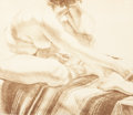 Fine Art - Work on Paper:Print, PHILIP PEARLSTEIN (American, b. 1924). Woman on Blanket. Color lithograph. 21 x 24 inches (53.3 x 61.0 cm) (sheet). Ed. ...