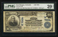 National Bank Notes:Colorado, Fort Morgan, CO - $10 1902 Plain Back Fr. 624 The First NB Ch. #(W)7004. ...