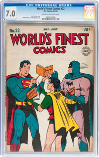 World's Finest Comics #22 (DC, 1946) CGC FN/VF 7.0 Cream to off-white pages
