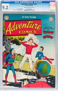 Golden Age (1938-1955):Superhero, Adventure Comics #154 (DC, 1950) CGC NM- 9.2 Off-white to white pages....
