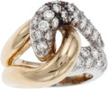 Estate Jewelry:Rings, A DIAMOND, GOLD RING. The ring features full-cut diamonds weighinga total of approximately 0.90 carat, set in 18k yellow an...
