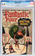 Silver Age (1956-1969):Superhero, Fantastic Four #5 (Marvel, 1962) CGC VG/FN 5.0 Off-white to white pages....
