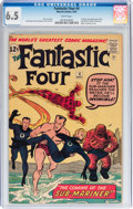 Silver Age (1956-1969):Superhero, Fantastic Four #4 (Marvel, 1962) CGC FN+ 6.5 White pages....