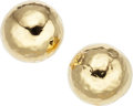 Estate Jewelry:Earrings, A PAIR OF GOLD EARRINGS, IPPOLITA. The 18k gold earrings weigh 4.90grams, marked Ippolita. . Dimensions: 5/8 inch x 5/8 i...