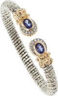 Estate Jewelry:Bracelets, Iolite, Diamond, Gold, Sterling Silver Bracelet, Alwand Vahan. ...