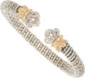 Estate Jewelry:Bracelets, A DIAMOND, GOLD, STERLING SILVER BRACELET, ALWAND VAHAN. Thebracelet features full-cut diamonds weighing a total of approxi...