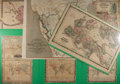Miscellaneous:Maps, [Maps]. Group of Seven 19th Century Steel Engraved Maps. Johnsonand Ward, ca. 1860's. Six are pasted to board and laminated...