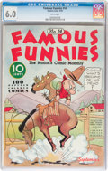 Platinum Age (1897-1937):Miscellaneous, Famous Funnies #14 (Eastern Color, 1935) CGC FN 6.0 White pages....