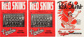 Basketball Collectibles:Programs, 1949-51 Sheboygan Red Skins Programs Lot of 3....
