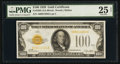 Small Size:Gold Certificates, Fr. 2405 $100 1928 Gold Certificate. PMG Very Fine 25 Net.. ...