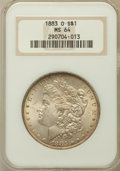 Morgan Dollars: , 1883-O $1 MS64 NGC. NGC Census: (43656/10706). PCGS Population(35723/8019). Mintage: 8,725,000. Numismedia Wsl. Price for ...
