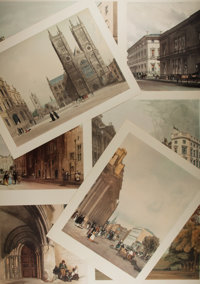 [Prints]. Thomas Shotter. Original Views of London. Charles W. Traylen, 1972. MISSING ONE PLATE. Comes with twenty