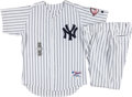 Baseball Collectibles:Uniforms, 2003 Hector Lopez Game Worn New York Yankees Old Timer's Day Uniform & Presentation Watch. ...