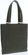 Luxury Accessories:Bags, Chanel Olive Green Lambskin Quilted Tote Bag with CC Logo. ...