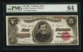 Large Size:Treasury Notes, Fr. 362 $5 1891 Treasury Note PMG Choice Uncirculated 64.. ...