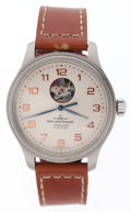 "Timepieces:Wristwatch, Zeno ""Open Heart"" Ref. 9554 Gent's Automatic, Box and Papers. ..."