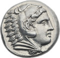 Ancients:Greek, Ancients: MACEDONIAN KINGDOM. Alexander III the Great (336-323 BC).AR tetradrachm (26mm, 17.20 gm, 2h). ...