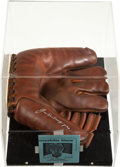 Baseball Collectibles:Others, Joe DiMaggio Signed Glove....