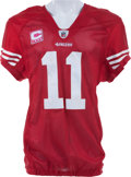 Football Collectibles:Uniforms, 2010 Alex Smith Game Worn, Unwashed San Francisco 49ers Jersey - NFL Auction LOA....