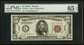 Small Size:World War II Emergency Notes, Fr. 2302 $5 1934A Hawaii Federal Reserve Note. PMG Gem Uncirculated 65 EPQ.. ...