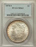 Morgan Dollars: , 1878-S $1 MS63 PCGS. PCGS Population (12909/17162). NGC Census: (12370/18741). Mintage: 9,774,000. Numismedia Wsl. Price fo...
